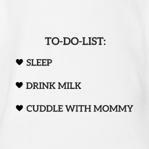 TO-DO-LIST - Økologisk kortermet baby-body