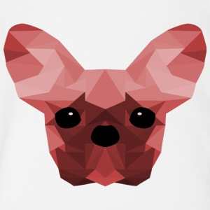 French Bulldog Low Poly Design red - Organic Short-sleeved Baby Bodysuit