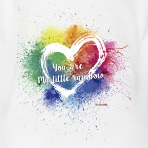 Little Rainbow T-Shirt - Organic Short-sleeved Baby Bodysuit