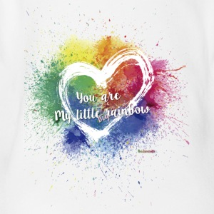 Little Big Rainbow T-Shirt - Organic Short-sleeved Baby Bodysuit