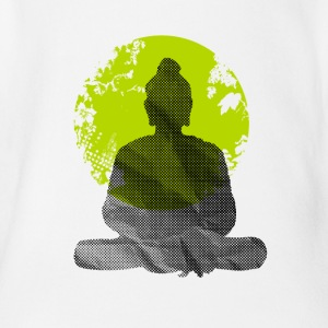 Buddha Meditation India Yoga namaste world green wa - Organic Short-sleeved Baby Bodysuit