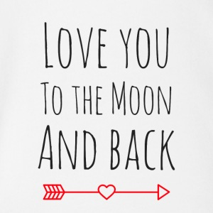 Love you to the moon - Organic Short-sleeved Baby Bodysuit