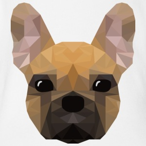 French Bulldog - low poly style - Organic Short-sleeved Baby Bodysuit
