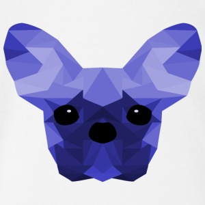 French Bulldog Low Poly Design blue - Organic Short-sleeved Baby Bodysuit