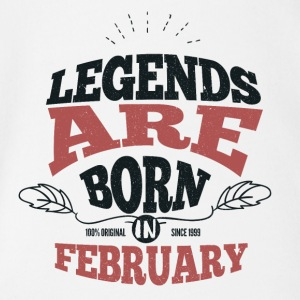 Legends February Born Birthday Gift Young - Organic Short-sleeved Baby Bodysuit