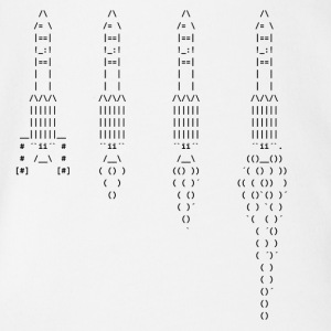 Ascii rockets - Organic Short-sleeved Baby Bodysuit