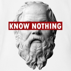 KNOW NOTHING SOCRATES - Organic Short-sleeved Baby Bodysuit