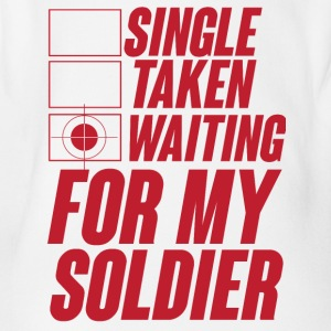 Militär / Soldaten: Single, Taken, Waiting for my - Baby Bio-Kurzarm-Body
