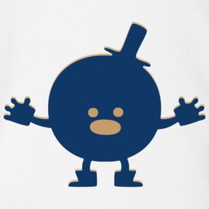 Monster Humpty Dumpty - Baby Bio-Kurzarm-Body