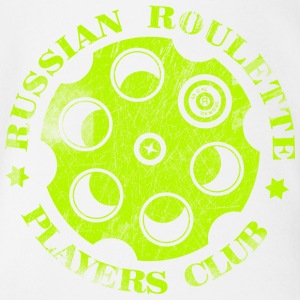 Russian Roulette Players Club Neon Vintage - Organic Short-sleeved Baby Bodysuit