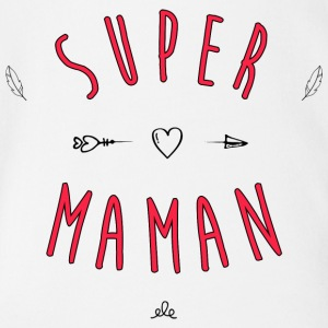 Super Mom - Organic Short-sleeved Baby Bodysuit