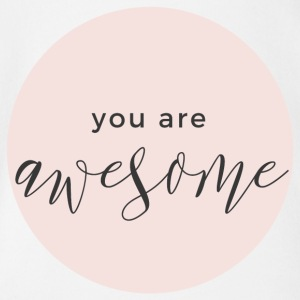 you are awesome rosa - Baby Bio-Kurzarm-Body
