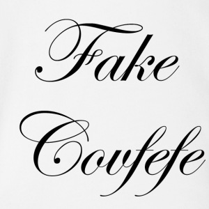 Fake covfefe - Organic Short-sleeved Baby Bodysuit
