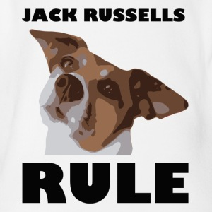 Jack russels rule2 - Organic Short-sleeved Baby Bodysuit
