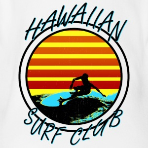 Hawaiian Surf Club - Baby Bio-Kurzarm-Body