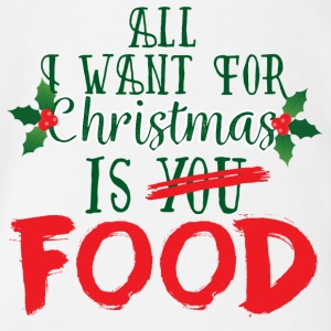 Natale: All I Want For Christmas Is alimentari - Body ecologico per neonato a manica corta