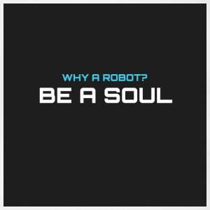Why a robot? BE IN SOUL - Organic Short-sleeved Baby Bodysuit