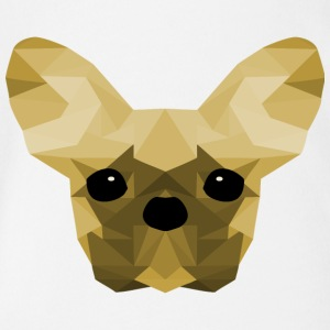 French Bulldog giallo Low Poly design - Body ecologico per neonato a manica corta
