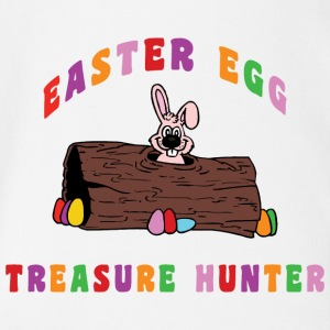 Easter Egg Treasure Hunter - Organic Short-sleeved Baby Bodysuit