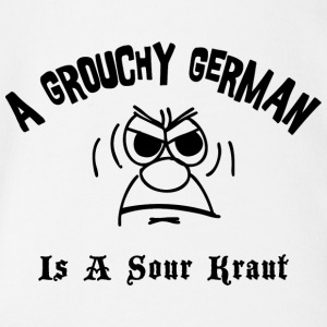 Grouchy German Is A Sour Kraut - Organic Short-sleeved Baby Bodysuit