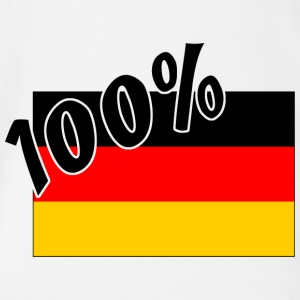 100 % German Germany Flag - Organic Short-sleeved Baby Bodysuit