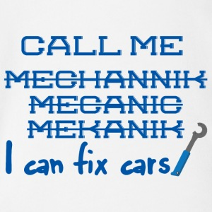 Mechanic: Call Me Mechanic - jeg kan fikse biler. - Økologisk kortermet baby-body