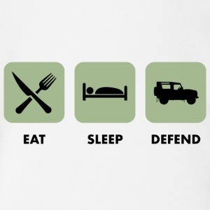 Eat, Sleep & Defend - Body ecologico per neonato a manica corta