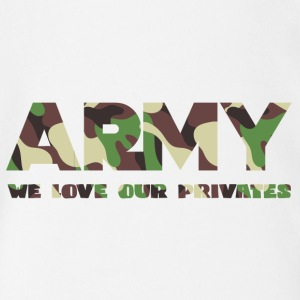 Militære / Soldiers: Army - We Love Our Private - Økologisk kortermet baby-body