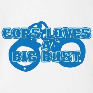 Police: Cops Loves A Big Bust - Organic Short-sleeved Baby Bodysuit
