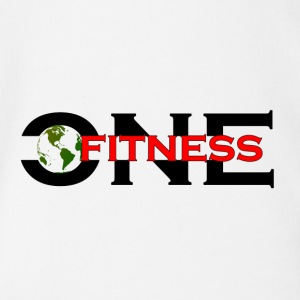 ONE FITNESS Logo - Baby Bio-Kurzarm-Body