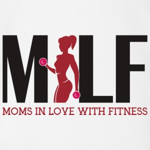 Milf: Moms in love with fitness - Organic Short-sleeved Baby Bodysuit