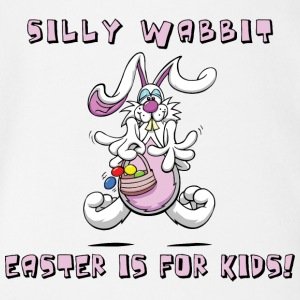 Easter Silly Wabbit Easter Is For Kids - Organic Short-sleeved Baby Bodysuit