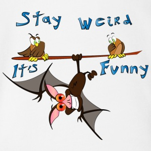 Stay weird - Organic Short-sleeved Baby Bodysuit