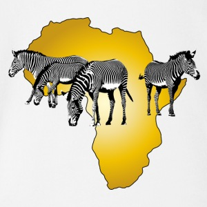 The Spirit of Africa - Zebras Afrika Serengeti - Baby Bio-Kurzarm-Body