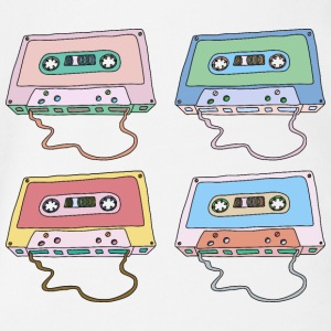 Music cassette compact cassette magnetic tape Retro - Organic Short-sleeved Baby Bodysuit