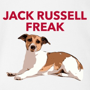 Jack Russel Freak red - Baby Bio-Kurzarm-Body