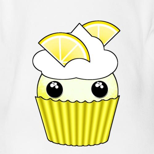 Kawaii lemon cupcake - Organic Short-sleeved Baby Bodysuit