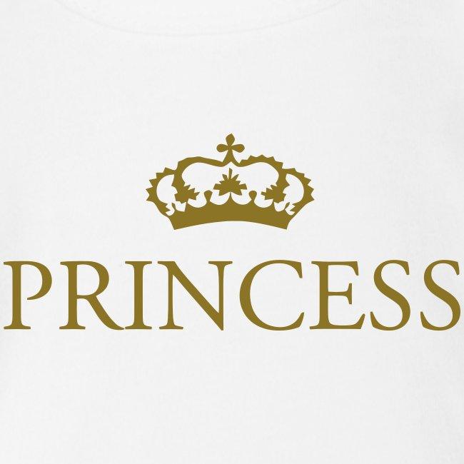 Gin O'Clock Princess Baby Vest - Gold Print
