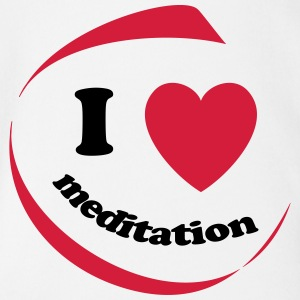 I love meditation - Organic Short-sleeved Baby Bodysuit