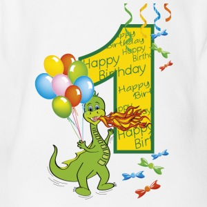 Good birthday 1 dragon - Organic Short-sleeved Baby Bodysuit