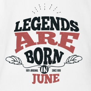 All legends are born in June birthday - Organic Short-sleeved Baby Bodysuit