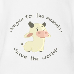 -Save the world - Organic Short-sleeved Baby Bodysuit