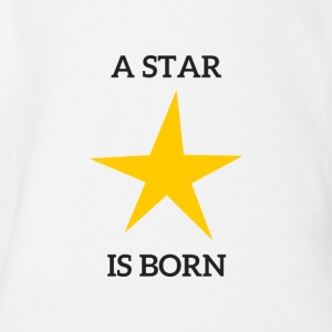 A Star Is Born - Økologisk kortermet baby-body