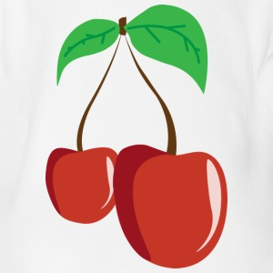 Cherry Love - Organic Short-sleeved Baby Bodysuit