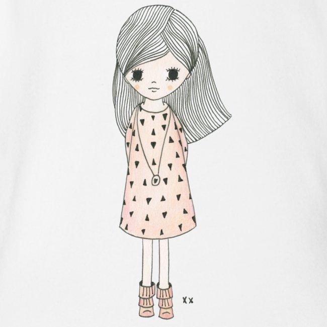 meisje met roze jurk