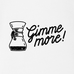 Gimme more! Coffee print - Organic Short-sleeved Baby Bodysuit