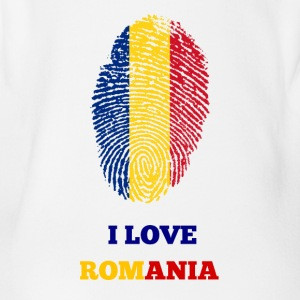 I Love Romania - Baby Bio-Kurzarm-Body