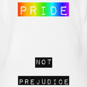Pride and NOT Prejudice - Organic Short-sleeved Baby Bodysuit