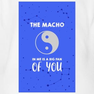 The Macho in me - Organic Short-sleeved Baby Bodysuit
