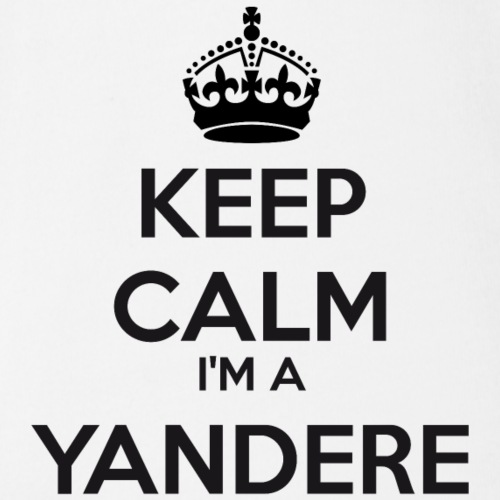 Yandere keep calm - Organic Short-sleeved Baby Bodysuit